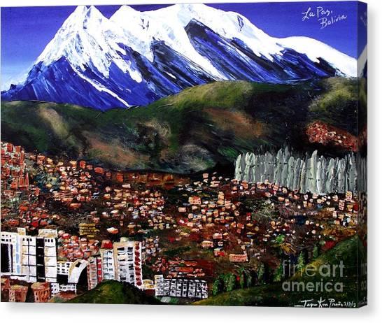 Mt Illimani La Paz Bolivia Canvas Print