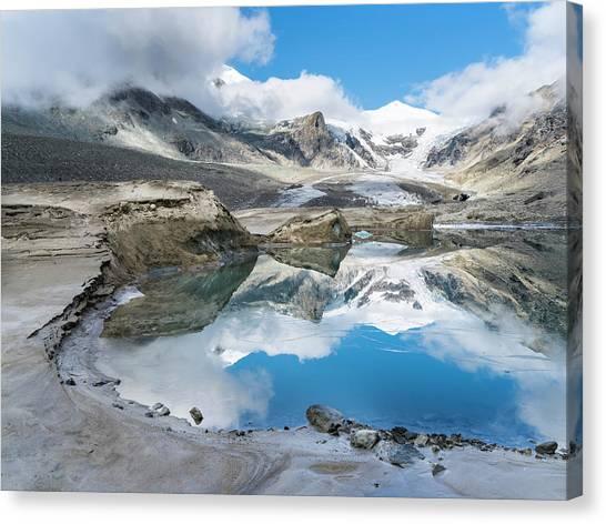 Pasterze Glacier Canvas Print - Mt Johannisberg At Mt Grossglockner by Martin Zwick