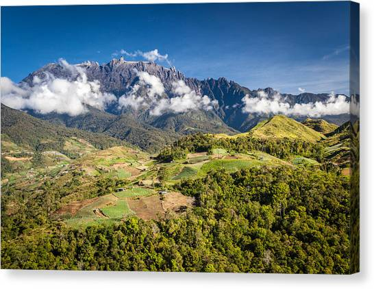 Mt. Kinabalu - The Highest Mountain In Borneo Canvas Print by Veronika Polaskova