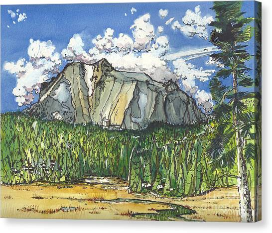 Mt Lassen Canvas Print
