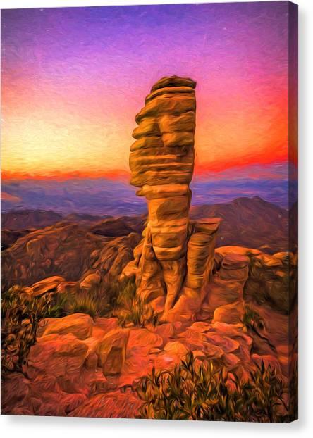 Mt. Lemmon Hoodoo Artistic Canvas Print