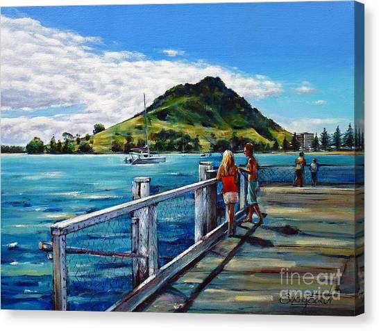 Mt Maunganui Pier 140114 Canvas Print