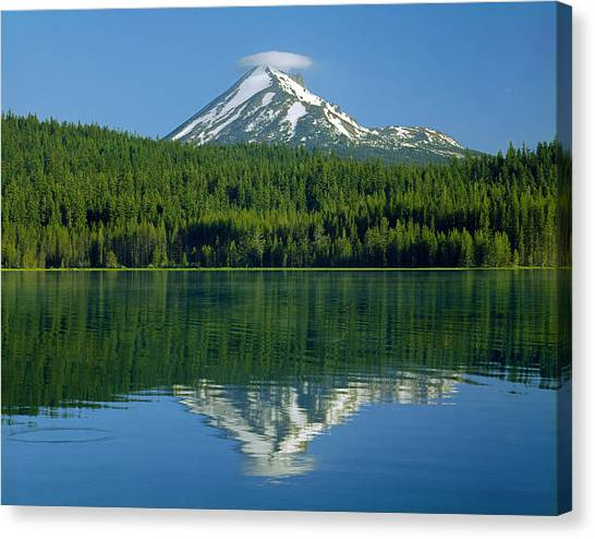 1m5705-h-mt. Mcloughlin From Lake Of The Woods Canvas Print