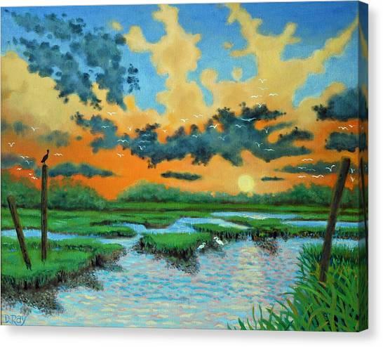 Mt. Pleasant Sunset Canvas Print