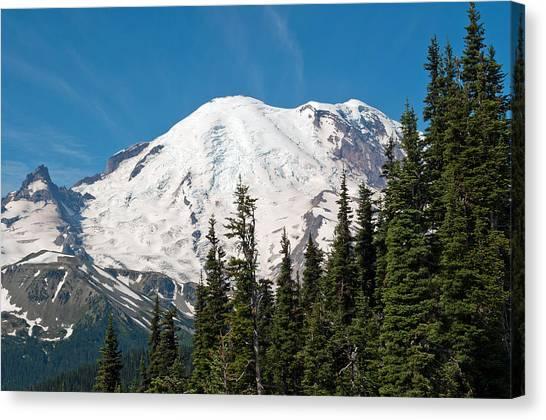 Mt. Massive Canvas Print - Mt. Rainier At Sunrise Viewpoint by Tikvah's Hope