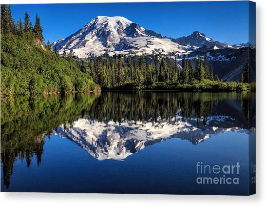Mt. Rainier From Bench Lake Canvas Print