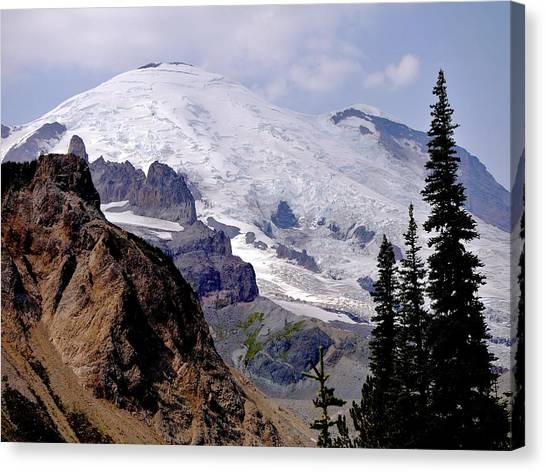 Mt Rainier From Panhandle Gap Canvas Print