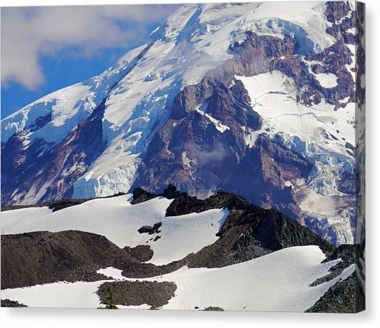 Mt Rainier From Spray Park Canvas Print