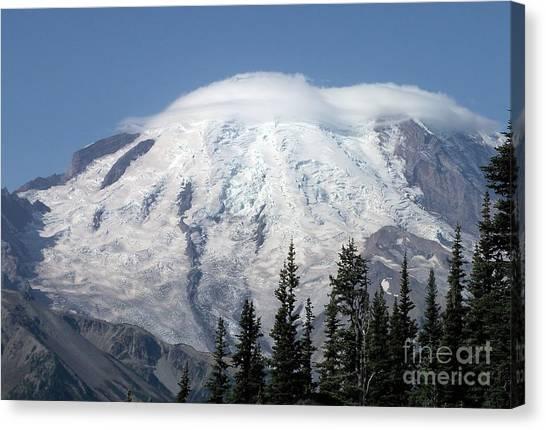Mt. Rainier In August 2 Canvas Print