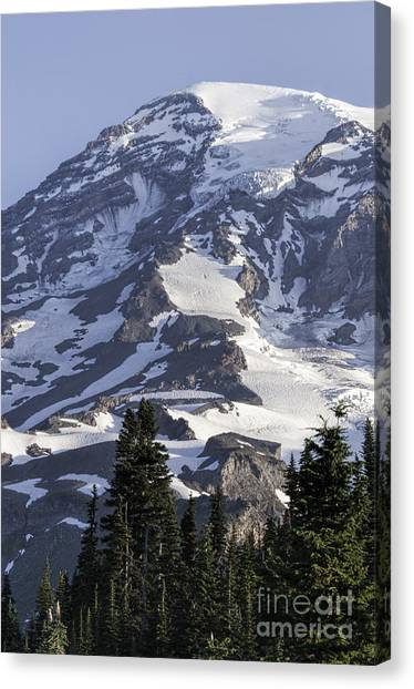 Mt Rainier Portrait Canvas Print