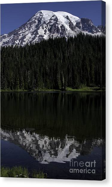 Mt Rainier Reflected In Reflection Lake Canvas Print