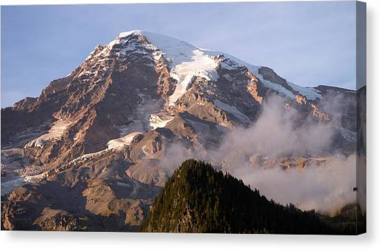 Mt Rainier Sunset Canvas Print