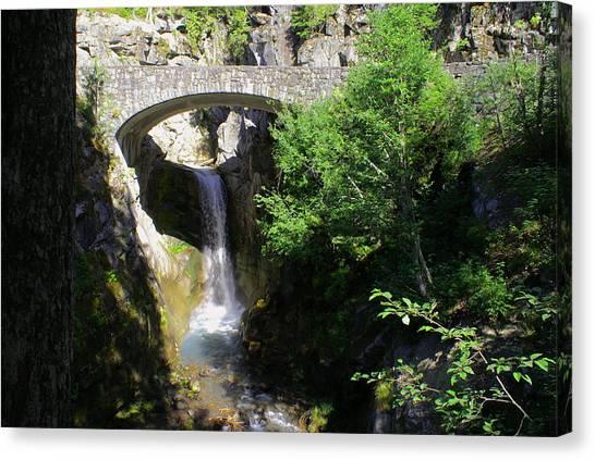 Mt. Rainier Waterfalls Canvas Print