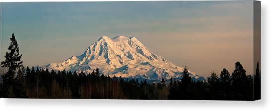 Mt Rainier Winter Panorama Canvas Print