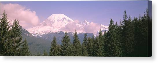 Mountainscape Canvas Print - Mt Ranier Mt Ranier National Park Wa by Panoramic Images