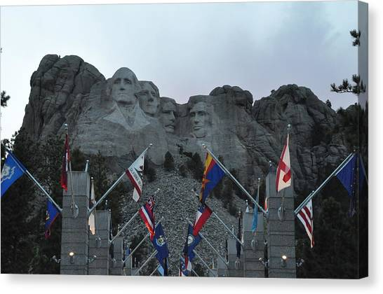 Mt. Rushmore In The Evening Canvas Print