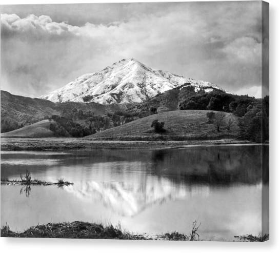 Marin County Canvas Print - Mt. Tamalpais In Snow by Underwood Archives