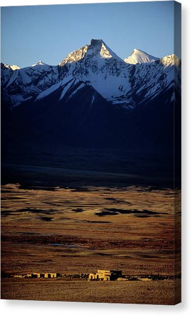 Hindu Kush Canvas Print - Mud Huts, Winter Camp, Hindu Kush by Beth Wald