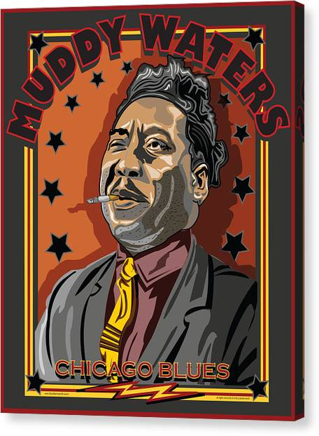 Muddy Waters Chicago Blues Canvas Print by Larry Butterworth