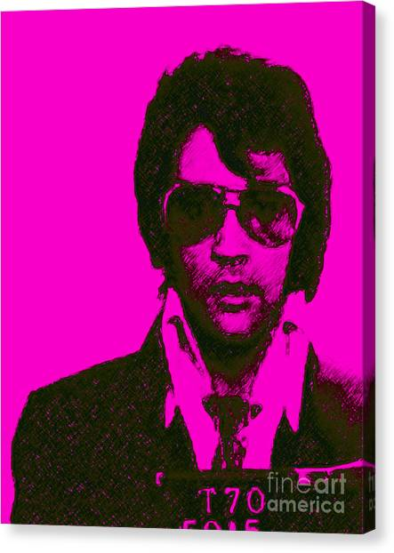 Mugshot Elvis Presley M80 Canvas Print