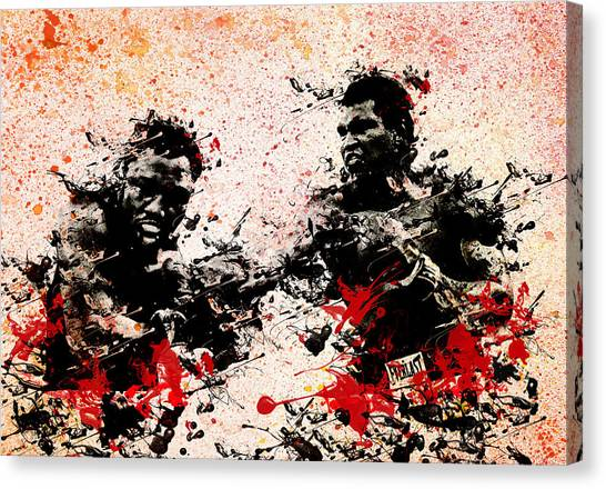 Knockout Canvas Print - Muhammad Ali 2 by Bekim Art