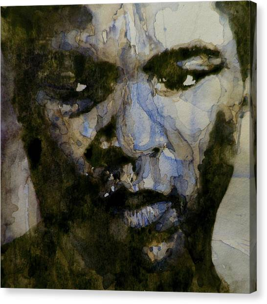 Boxers Canvas Print - Muhammad Ali  A Change Is Gonna Come by Paul Lovering