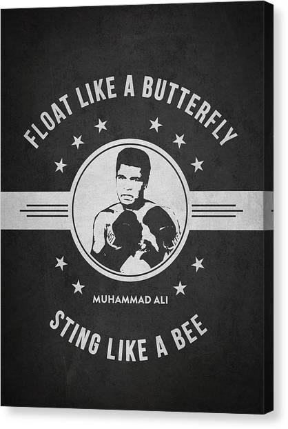 Muhammad Ali Canvas Print - Muhammad Ali - Dark by Aged Pixel