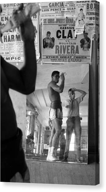 Muhammad Ali Canvas Print - Muhammad Ali Drinking  by Retro Images Archive