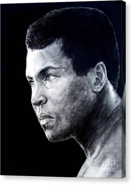 George Foreman Canvas Print - Muhammad Ali Formerly Known As Cassius Clay IIi by Jim Fitzpatrick