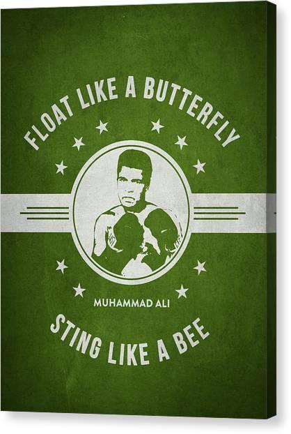 Muhammad Ali Canvas Print - Muhammad Ali - Green by Aged Pixel