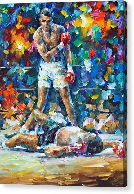 Boxers Canvas Print - Muhammad Ali by Leonid Afremov