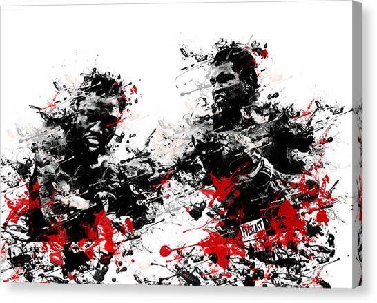 Knockout Canvas Print - Muhammad Ali by Bekim Art