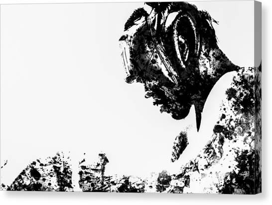 Joe Frazier Canvas Print - Muhammad Ali Paint Splatter 1 by Brian Reaves