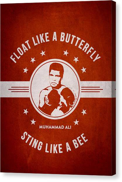 Muhammad Ali Canvas Print - Muhammad Ali - Red by Aged Pixel
