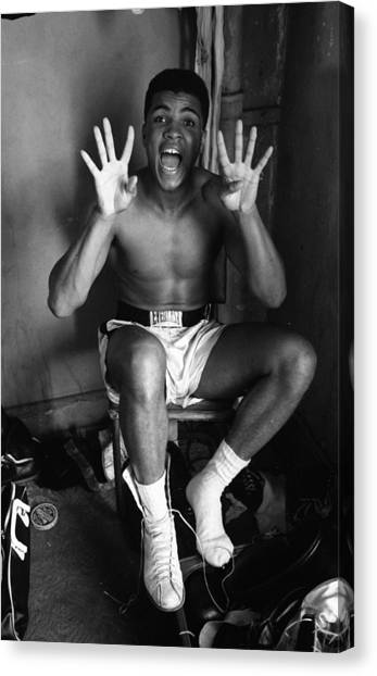 Muhammad Ali Canvas Print - Muhammad Ali Showing Off  by Retro Images Archive