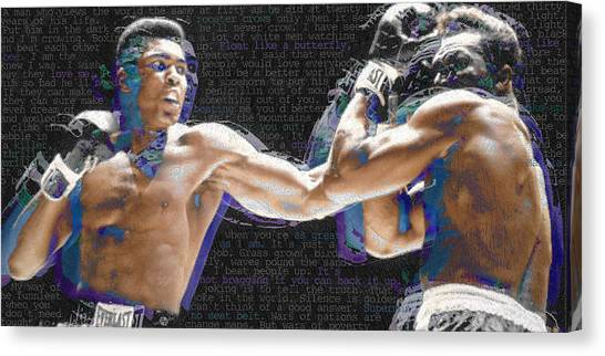 Clay Canvas Print - Muhammad Ali by Tony Rubino