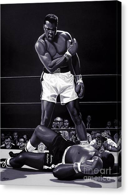 Knockout Canvas Print - Muhammad Ali Versus Sonny Liston by Meijering Manupix