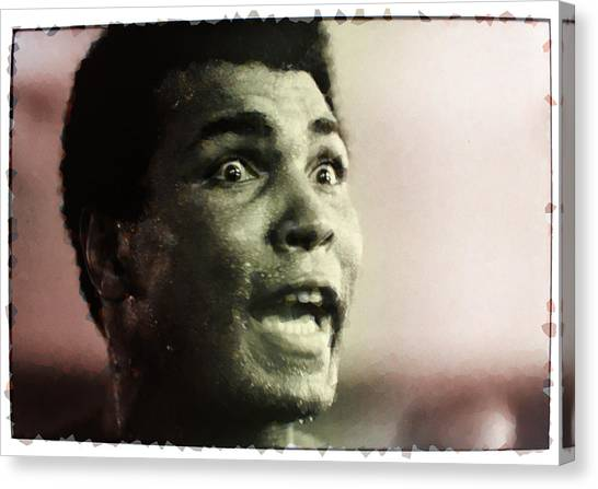 George Foreman Canvas Print - Muhammed Ali During Training by Twan Urselmann