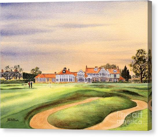 Jack Nicklaus Canvas Print - Muirfield Golf Course 18th Green by Bill Holkham