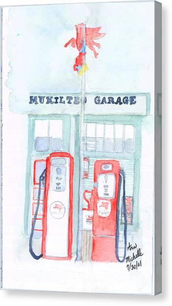 Mukilteo Garage Canvas Print