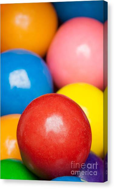 Canvas Print featuring the photograph Multi-colored Gumballs by Bryan Mullennix