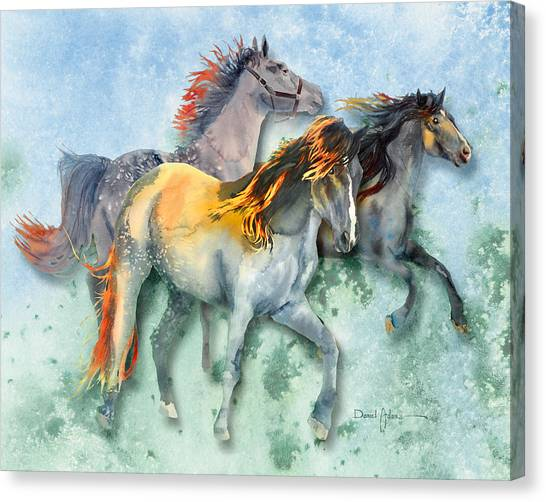 Da132 Multi - Horses Daniel Adams Canvas Print