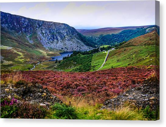 Multicolored Carpet Of Wicklow Hills. Ireland Canvas Print