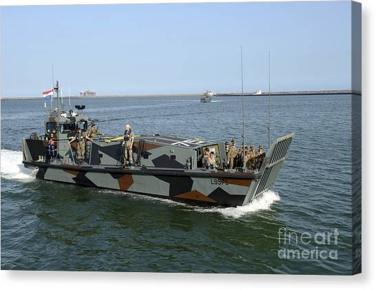Royal Marines Canvas Print - Multinational Marines Conduct An by Stocktrek Images