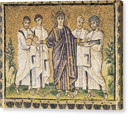 Byzantine Canvas Print - Multiplication Of The Loaves by Everett