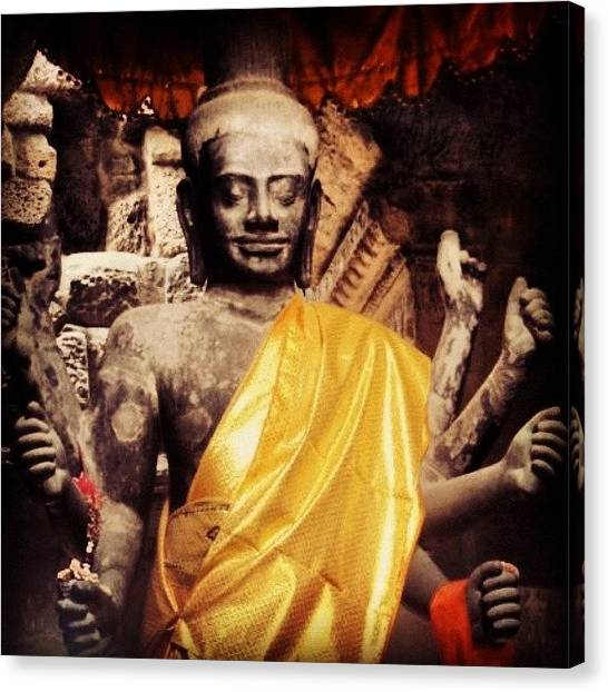 Hinduism Canvas Print - #multitasking by Nic Re