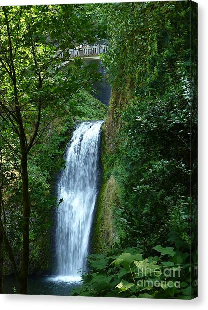 Multnomah Falls Bridge 2 Canvas Print