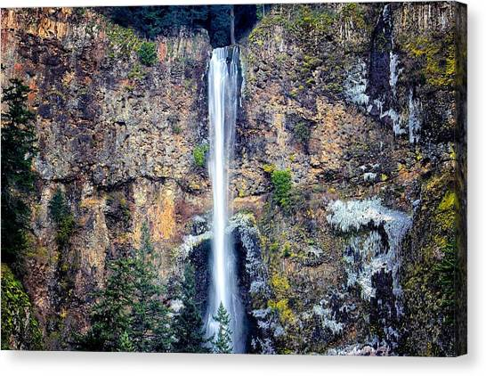 Multnomah Falls East Of Portland Or Canvas Print