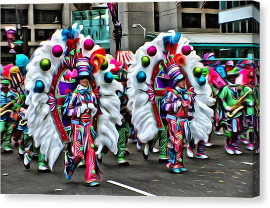 Mummer Color Canvas Print