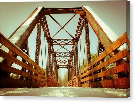 Munger Trail Crossing Canvas Print